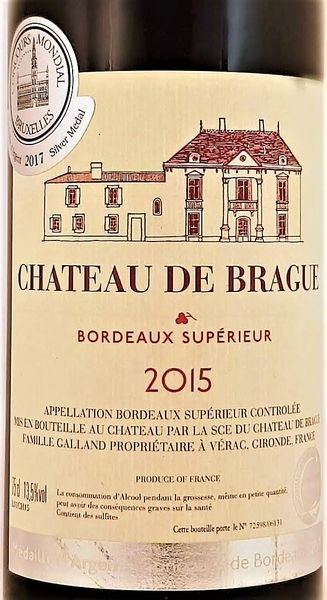 Bordeaux Superieur 2015 rood Chaeau de Brague