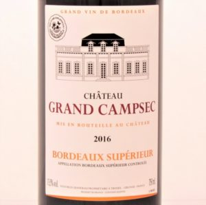 Bordeaux Superieur 2016 Chateau Grand Campsec