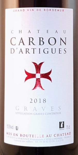 Graves rood 2018 Carbon d'Artigues